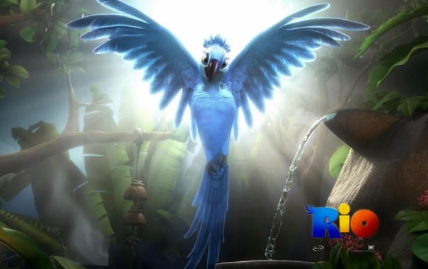 Фото обои мультфильм, попугай, ара, рио, rio, жемчужинка