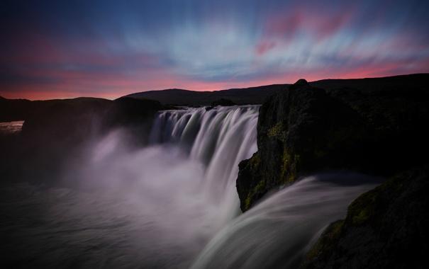 Фото обои пейзаж, nature, водопад, природа, water, вода, waterfall