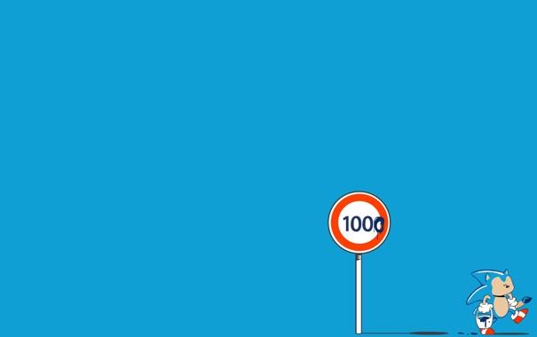 Фото обои знак, краска, кисточка, соник, Sonic, ограничение_скорости, speed_limit