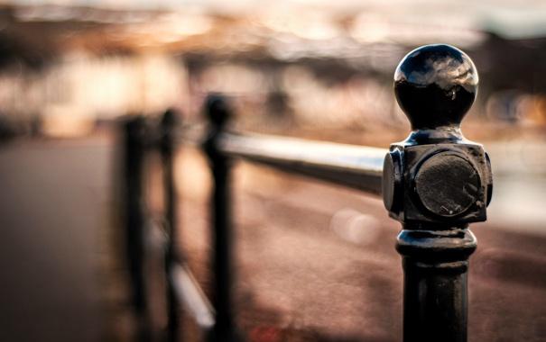 Фото обои макро, фон, обои, черный, забор, размытие, ограда