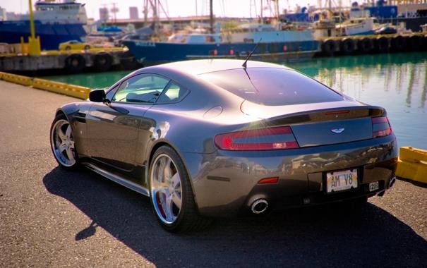 Фото обои car, авто, машины, блики, пристань, тачки, порт