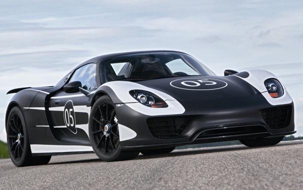 Фото обои небо, Prototype, Porsche, суперкар, прототип, Порше, Spyder