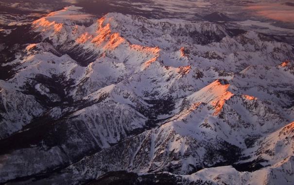Фото обои горы, пейзажи, колорадо, Aspen Peaks