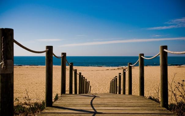 Фото обои море, пляж, дорожка