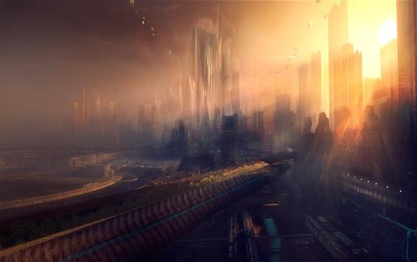 Фото обои город, цывилизацыя, 2510
