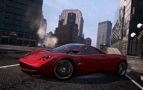 Фото обои город, гонка, спорткар, Pagani, need for speed most wanted 2