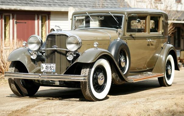 Фото обои Lincoln, передок, 1932, Sedan, 4-door, Model KB, Линкольн.ретро