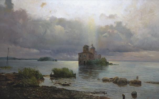 Фото обои картина, Афонин, Голгофа русского севера