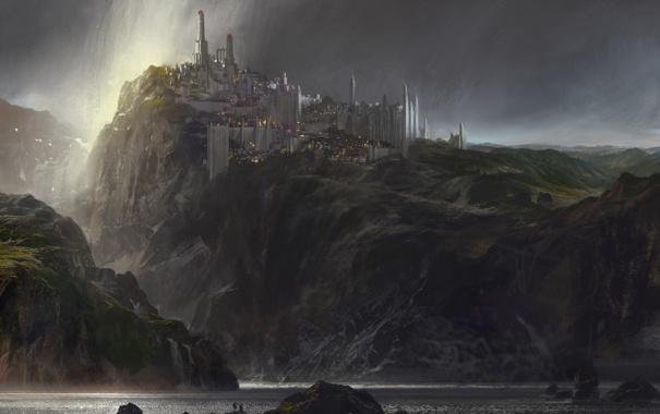 Фото обои море, замок, красиво