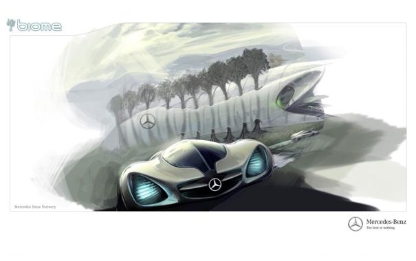 Фото обои Concept, Mercedes, Benz, Biome