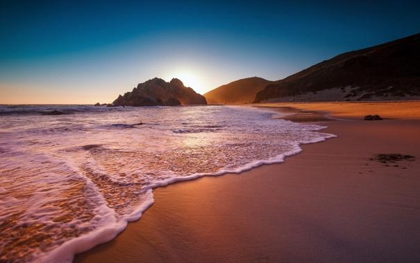 Фото обои пляж, океан, скалы, побережье, Big Sur, Big Sur California