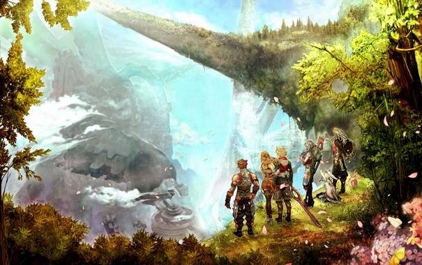 Фото обои игра, арт, герои, game, Nintendo, Xenoblade