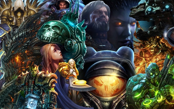 Фото обои World of Warcraft, Starcraft, персонажи, Diablo, Blizzard games