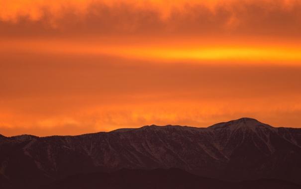 Фото обои небо, горы, природа, горизонт