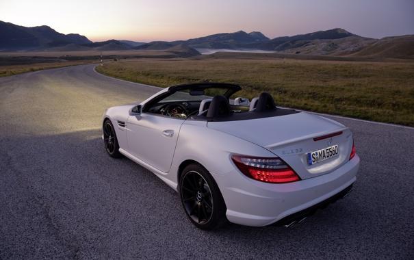 Фото обои Mercedes-Benz, cars, auto, вид с зади, wallpapers auto, обои авто