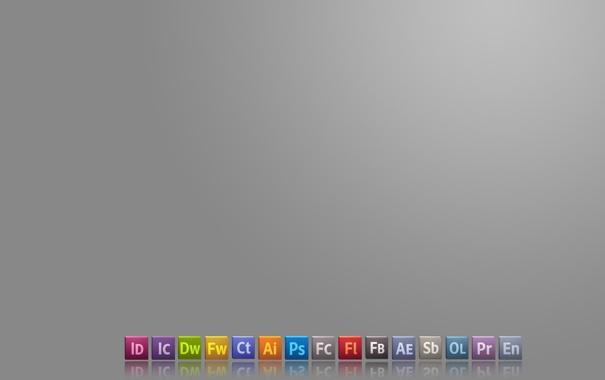 Фото обои logo, Adobe, creative suite 5, master collection