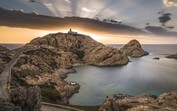 Фото обои Lighthouse, Corsica, Isula Rossa, Rencontre avec Pierrot
