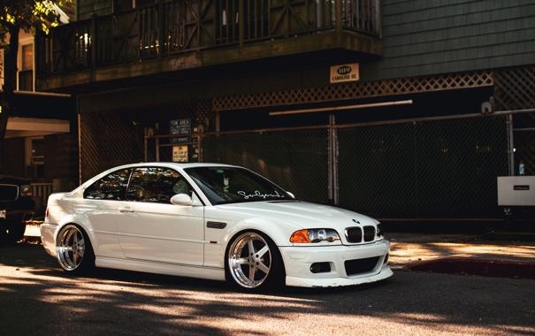 Фото обои белый, бмв, BMW, white, E46