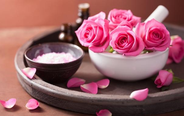 Фото обои цветы, розы, лепестки, натюрморт, розовые цветы