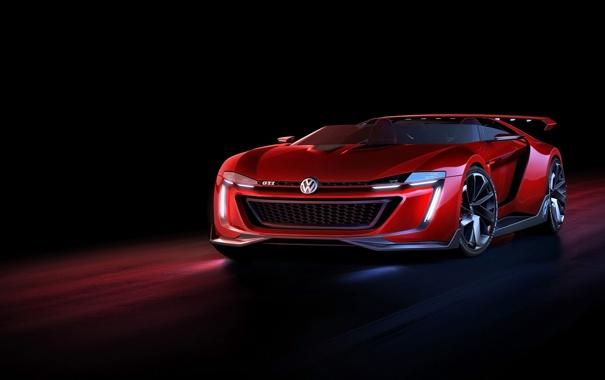 Фото обои машина, авто, Roadster, Volkswagen, auto, GTI, 2014