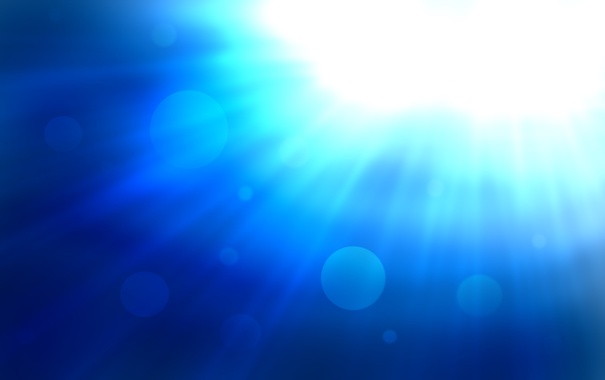 Фото обои свет, круги, синий, яркий