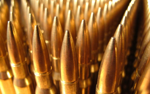 Фото обои макро, оружие, патроны