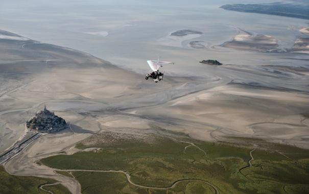 Фото обои вид, высота, простор, полёт, мотодельтаплан