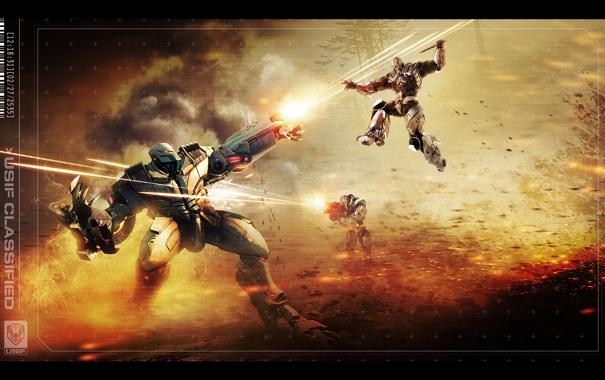 Фото обои будущее, фантастика, война, солдаты, стрельба, section 8, сражение