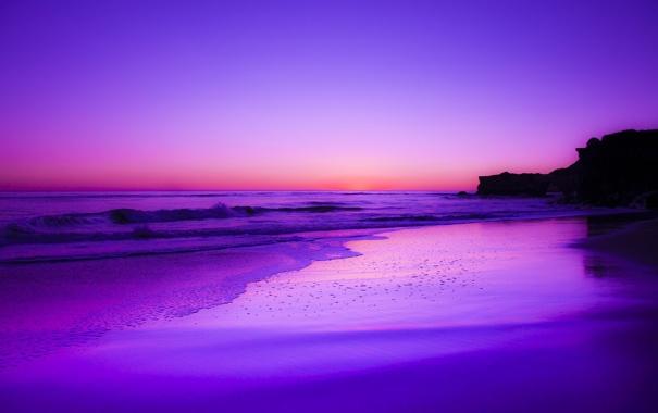 Фото обои песок, пляж, рассвет, океан