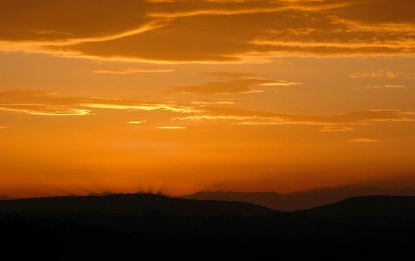Фото обои небо, лучи, деревья, пейзаж, природа, обои, вид