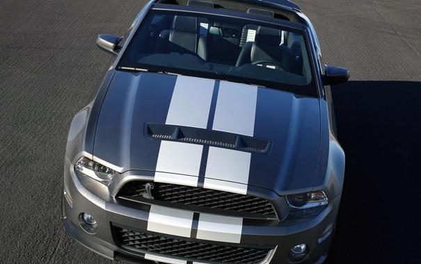 Фото обои Mustang, Ford, Shelby, GT500, мустанг, серебристый, родстер