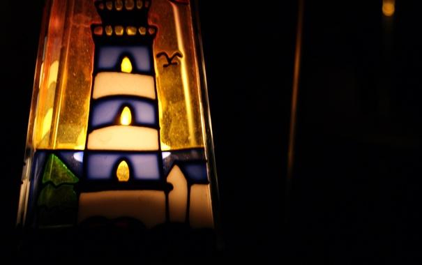 Фото обои свет, маяк, свеча, луч, подсвечник