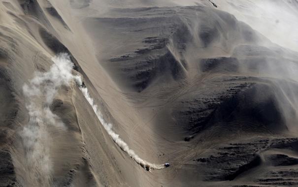Фото обои песок, авто, пейзаж, обои, гонка, спуск, спорт