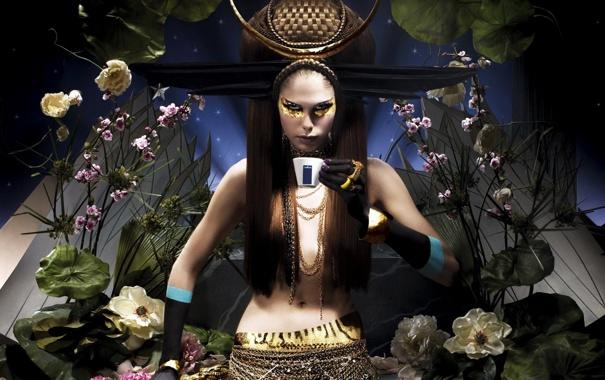 Фото обои чаепитие, фараон, бренд