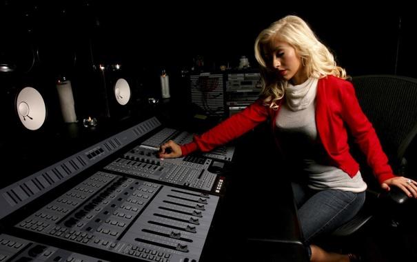Фото обои music, blonde, song, aguilera
