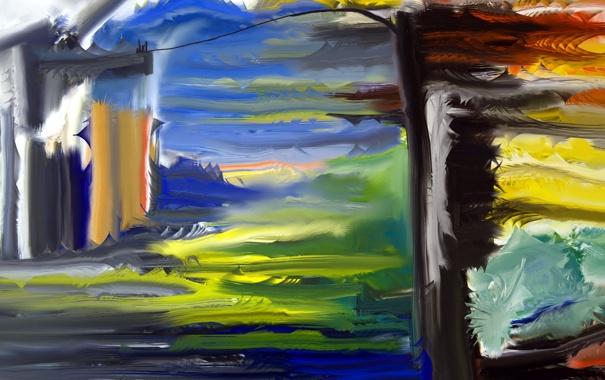 Фото обои абстракция, форма, цвет