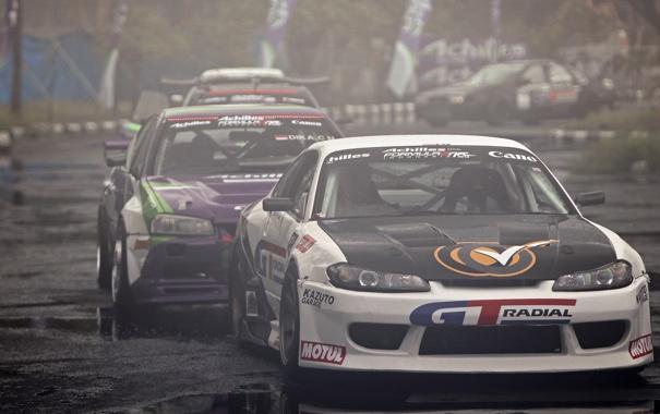 Фото обои гонка, nissan, дрифт, drift, skyline, ниссан, silvia