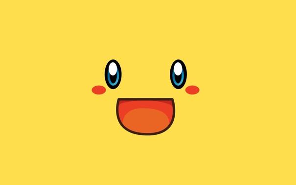 Фото обои улыбка, Pokemon, Пикачу, позитив.