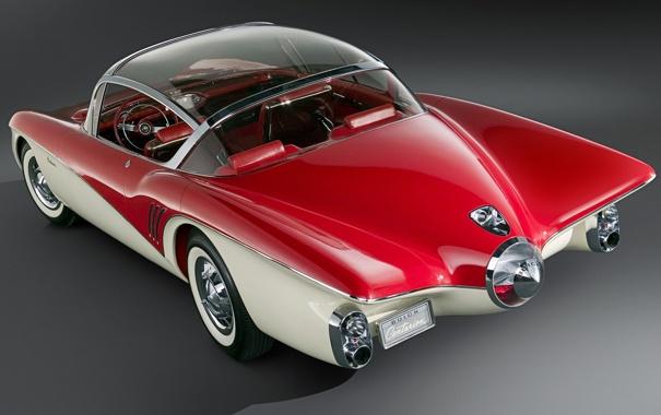 Фото обои Concept, красный, Car, 1956, Buick, Centurion