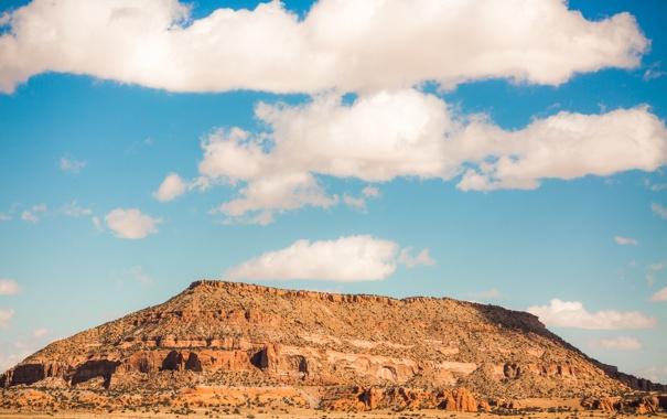 Фото обои небо, пейзаж, природа, пустыня, New Mexico