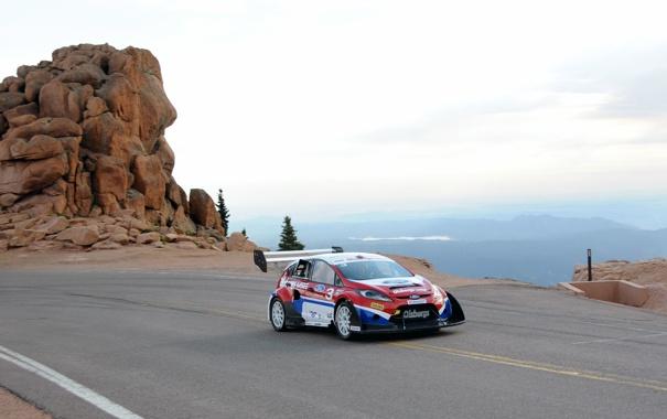 Фото обои горы, Ford, Fiesta, Rallycross