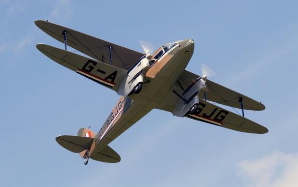 Фото обои самолет, легкий, транспортный, Dragon Rapide