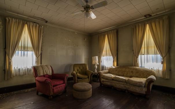 Фото обои комната, диван, кресло