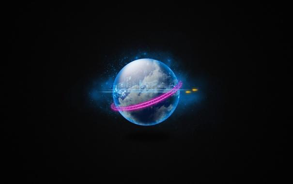 Фото обои космос, фон, настроение, обои, графика, планета