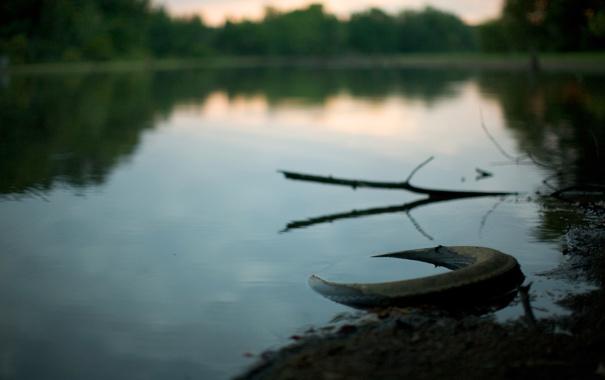 Фото обои озеро, река, фото, берег, озера, колесо, реки
