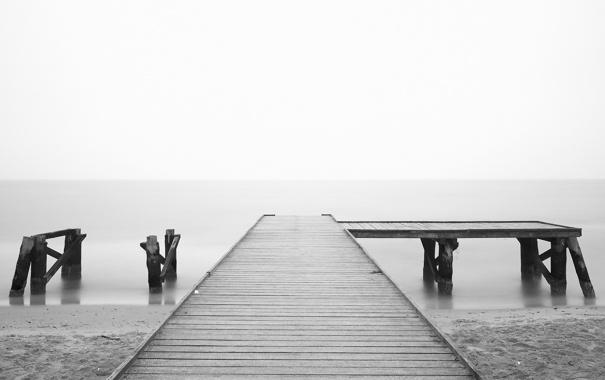 Фото обои море, вода, настроение, океан, обои, романтика, берег