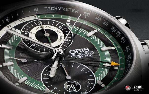 Фото обои Часы, Oris, Tachometer