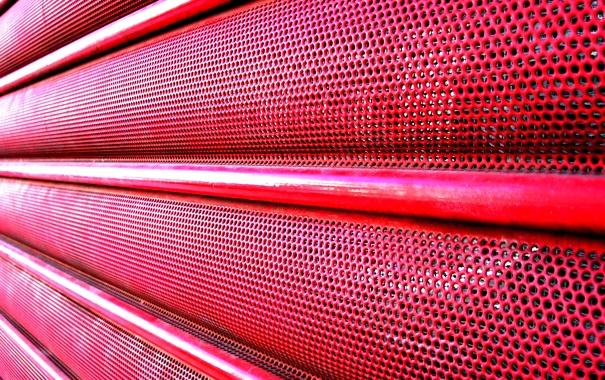 Фото обои metal, red, pattern