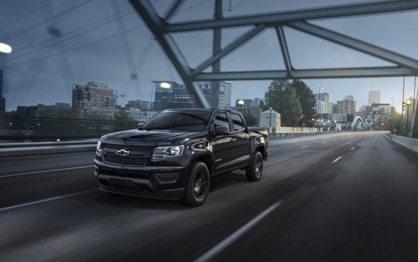 Фото обои Chevrolet, шевроле, колорадо, Midnight, Colorado, Crew Cab, 2015