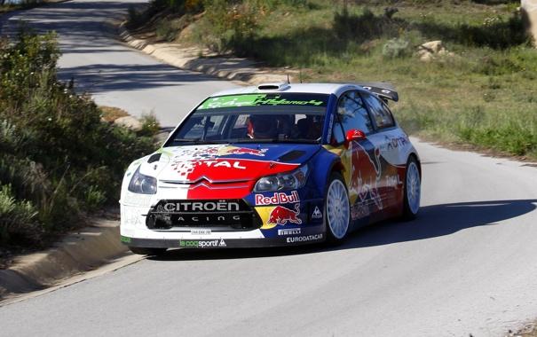 Фото обои Авто, Citroen, Фары, Red Bull, WRC, Rally, Передок
